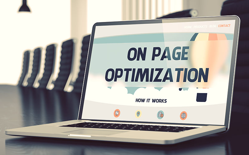 On Page SEO landing page